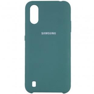 Силикон Original Silicone Case Samsung A01/A015  (Зеленый)
