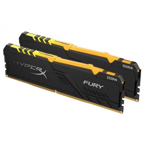 Оперативная память DDR4 Kingston 32GB KIT(2x16GB) 3200MHz HyperX Fury RGB Black (HX432C16FB3AK2/32)