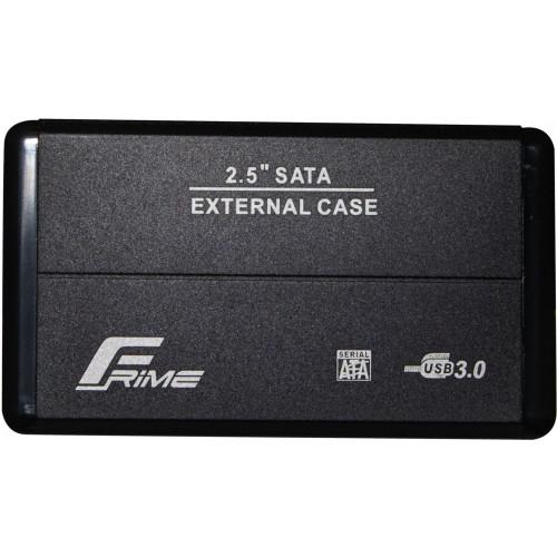 Внешний карман Frime SATA HDD/SSD 2.5″, USB 3.0, Metal, Black (FHE20.25U30)