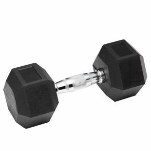Гантель обрезиненная SPART 45 кг