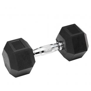 Гантель обрезиненная SPART 55 кг