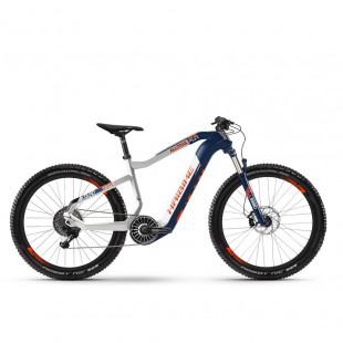 Электровелосипед Haibike XDURO AllTrail 5.0 Carbon FLYON i630Wh 11 s. NX 27.5″, рама L, сине-бело-оранжевый, 2020